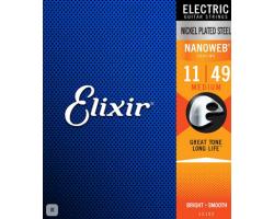 Струны ELIXIR 12102 NanoWeb 11-49 д/эл.гитары