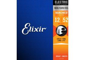Струны ELIXIR 12152 NanoWeb 12-52 д/эл.гитары
