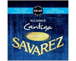 Струны SAVAREZ 510AJP Alliance Cantiga PREMIUM сильного натяжения карбон/серебрянная обмотка для классической гитары