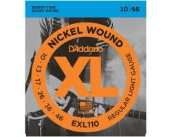 Струны D'ADDARIO EXL110 10-46 никелированная навивка д/эл.гитары