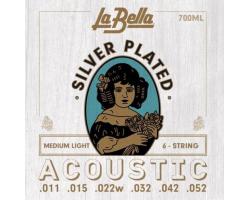 Струны LA BELLA 700ML 11-52 Silver Plated д/ак.гитары
