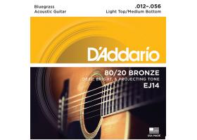 Струны D'ADDARIO EJ14 12-56 бронза для акустической гитары