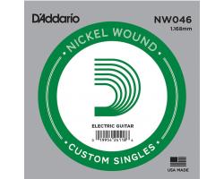Струна D'ADDARIO NW046 никель для электрогитары