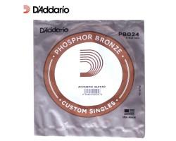 Струна D'ADDARIO PB024 д/акуст.гитары фосф.бронза