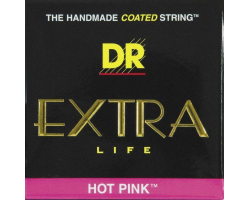 Струны DR PKE9 9-46 Pink Coated для электрогитары