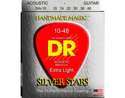 Струны DR SIA10 10-48 silver для акустической гитары