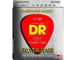Струны DR SIA11 11-50 silver для акустической гитары