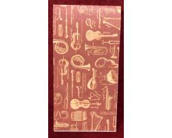 Блокнот МУЗЫКАЛЬНЫЕ ИНСТРУМЕНТЫ Винтаж на склейке, 60 листов 4090