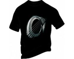 Футболка ГИТАРА АКУСТИКА макросъемка, мужская размер L, цвет черный 1810